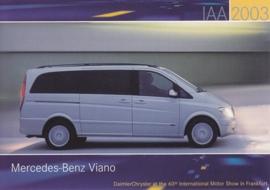 Mercedes-Benz Viano, A6-size postcard, IAA 2003