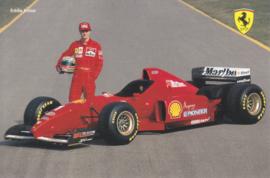 Formula One autogram postcard with driver Eddie Irvine, 1996, # 1074