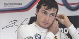 DTM driver Bruno Spengler, oblong autogram card, 2015, German/English