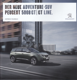 5008 SUV GT/GT Line brochure, 48 pages, German language, 03/2017