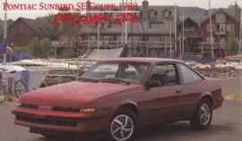Sunbird SE Coupe, 1988, standard-size, USA