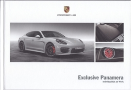 Panamera Exclusive brochure, 44 pages, 05/2013, hard covers, German