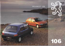 106 Hatchback brochure, 20 + 24 pages, A4-size, 1994, Dutch language (Belgium)