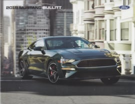 Ford Mustang Bullit brochure, 4 pages, 2019, English language, USA