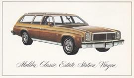 Malibu Classic Estate Station Wagon,  US postcard, standard size, 1976