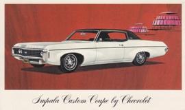 Impala Custom Coupe,  US postcard, standard size, 1969