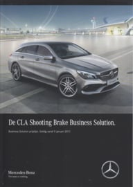 CLA Shooting Brake Business Solution special edition brochure, 4 pages, 01/2017, Dutch language