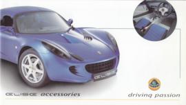 Elise accessories brochure, 8 pages, oblong shape, about 2002, English language