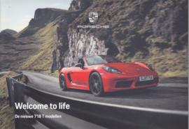 718 Boxster & Cayman T brochure, 24 pages, 12/2018, Dutch language