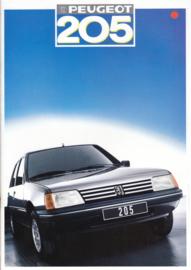 205 Hatchback brochure, 30 pages, A4-size, 1987, Dutch language