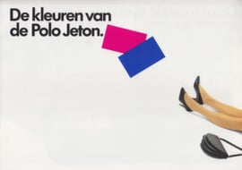 Polo Jeton brochure, 4 pages,  A4-size, Dutch language, 03/1990