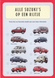 Program all models, DIN A6-size postcard, Dutch language, 1999