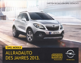 Mokka car of the year, 2 page leaflet, 02 59 526, 2014, German