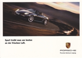 Boxster, A6 size postcard, Citycards, PC Leipzig, about 2007
