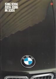 518i/520i/525i/528i/M535i brochure, 48 pages, 2/1984, Dutch language