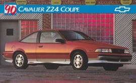 Cavalier Z24 Coupe, US postcard, large size, 19 x 11,75 cm, 1990