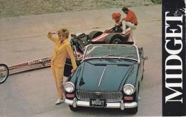Midget Convertible, standard size postcard, USA, 1968