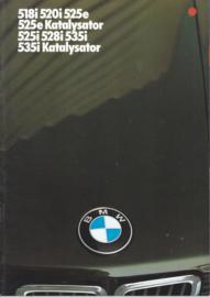 5-Series models brochure, 34 pages, 2/1985, German language