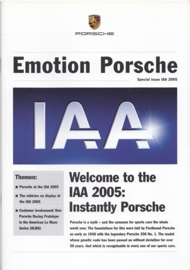 Emotion Porsche special IAA 2005, 16 pages, 09/2005, English language