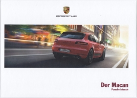 Macan model brochure, 174 pages, 03/2016, hard covers, German