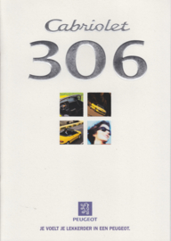 306 Cabriolet brochure, 16 pages, A4-size, 07/1997, Dutch language