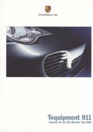 911 Tequipment (996) brochure, 36 pages, 08/2003, German