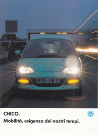 Chico experimental citycar brochure, A4-size, 8 pages, Italian language, 04/1992