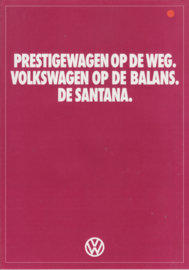 Santana folder, 4 pages.,  A4-size, Dutch language, about 1982
