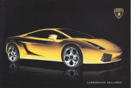 Gallardo 2003, 16,5 x 11 cm postcard, factory-issued, # 991000869, Italian/English language
