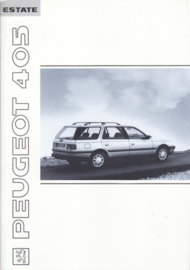405 Estate brochure, 28 pages, A4-size, 1991, English language