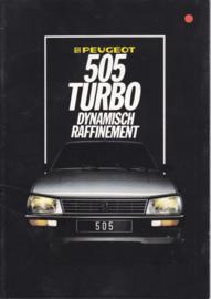 505 Sedan Turbo brochure, 20 pages, A4-size, 1985, Dutch language