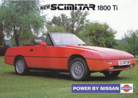Scimitar SST 1800 Ti Convertible leaflet, 2 pages, 10/1991, English language