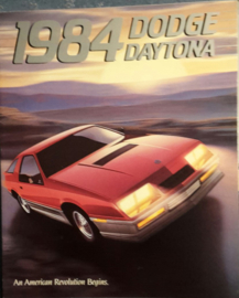 Daytona brochure, 20 large pages, 1984, English language, USA
