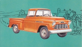 Chevy 3104 Pickup, US postcard, standard size, 1956