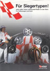 Audi & Volkswagen Votex wheels leaflet, 2 pages, about 1984, German language