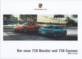 718 Boxster & Cayman brochure,  152 pages, 04/2016, hard covers, German language