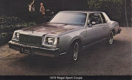 Regal Sport Coupe, US postcard, standard size, 1979