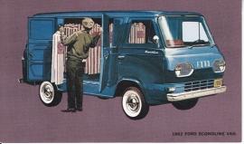 Econoline Van, US postcard, standard size, 1962