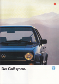 Golf Synchro brochure, 16 pages,  A4-size, German language, 07/1986