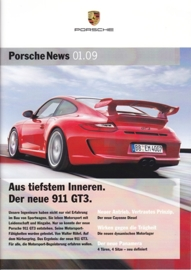 News 01/2009 with 911 GT3, 28 pages, 02/09, German language