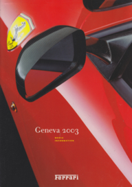 Press Package Geneva 2003, many pictures on CD-Rom, comes in A4-size cover