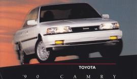 Camry Sedan, US postcard, 1990
