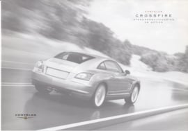 Crossfire Coupe specifications & prices brochure, 6 pages, 10/2003, Dutch language