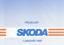 Program pricelist brochure, 4 pages, Dutch language, 01/1989