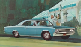 Chevelle SS-396 Sport Coupe, US postcard, standard size, 1967