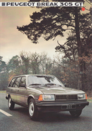 305 Break GT brochure, 4 pages, A4-size, 1984, Dutch language