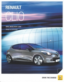 Clio Night & Day Limited edition brochure, 6 pages, 04/2014, Dutch language