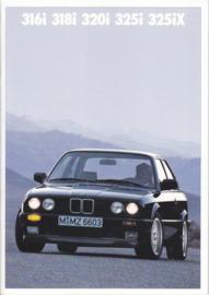 316i/318i/320i/325i/325iX brochure, 34 pages, A4-size, 2/1988, Dutch language