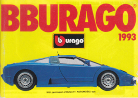 Burago brochure, 64 pages, 1993, English language, small-size