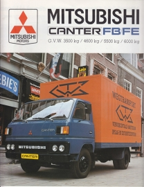 Canter FB/FE light truck brochure, 16 pages, 12/1983, Dutch language